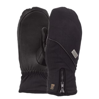 Wms Gem Mitt Glove - Black M