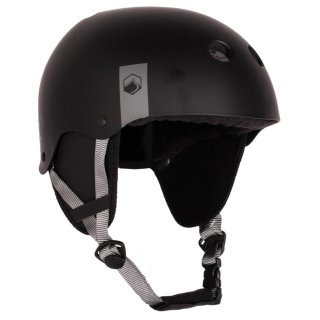 Flash Wake Helm CE with Earflaps - Black