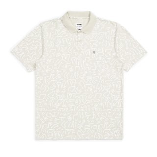 Rue S/S Polo T-Shirt - Stone M