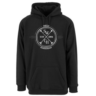 Switch Long-Hoodie Circle Logo - Black/White MT