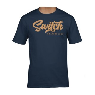 Switch T-Shirt Tag Logo - Navy/Beige L