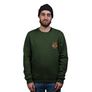 Tiger Bear Sweatshirt - Army Party